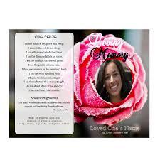 images of funeral programs single fold memorial program funeral phlets