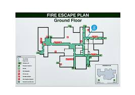 Fire Evacuation Route Plan by Safety Labeling U0026 Guarding The Industrial Controls Co