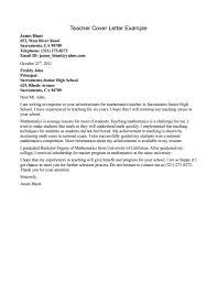 Teacher Sample Resumes Sample Resume Cover Letter For Teachers Resume For Your Job