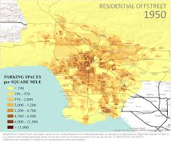 Map De Los Angeles by Growth Of Parking In Los Angeles