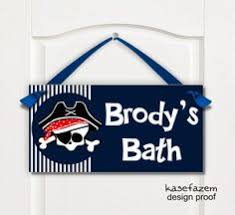 Kids Pirate Bathroom - pirate bathroom rules by order of the captain wash brush