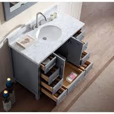 Bathroom Vanities With Tops Single Sink by Ace 43 Inch Single Sink Bathroom Vanity Set In Grey Finish