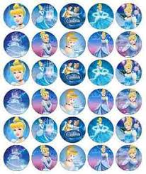 cinderella cake toppers 30 x cinderella princess edible cupcake toppers wafer paper fairy