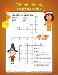 thanksgiving crossword puzzle thanksgiving crossword puzzle