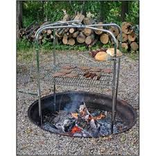 Cooking Over Fire Pit Grill - campfire cooking equipment lovetoknow