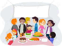 illustration of a family gathering stock photo picture and