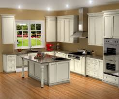 pretty l shape kitchen features brown color birch kitchen cabinets
