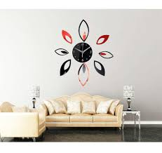 wall stickers jumia wall stickers jumia stylish leaves mirror effect sticker diy quartz wall clock home decoration