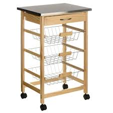 stainless steel top kitchen cart premier stainless steel top kitchen trolley robert dyas