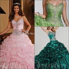haute couture crystal 15 years long masquerade ball gowns