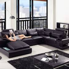 modern bonded leather sectional sofa divani casa modern black bonded from contemporary