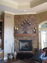 fireplace top painted stone fireplace decorating ideas