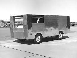 Old Ford Drag Truck - aerodynamics research revolutionizes truck design