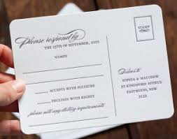Wedding Reply Cards Using Post Cards As Response Cards