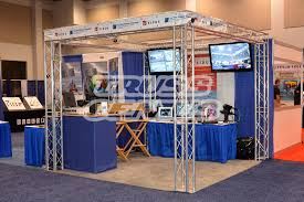 10 foot truss trade show booth customizable portable exhibits
