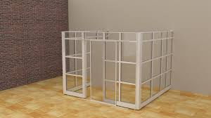 glass office demountable walls room dividers cubicle panels