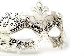 fancy masquerade masks white and silver ornate masquerade mask on white background stock