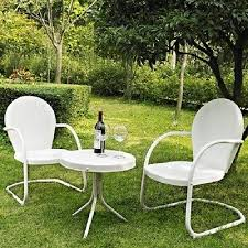 Retro Patio Furniture Sets 3 Pc Metal Vintage Retro Outdoor Furniture Lawn Patio Seating