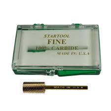 acrylic nail drill bit 3 32 two way cut gold large barrel fine