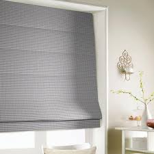 gingham roman blind in blue free uk delivery terrys fabrics