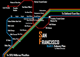 Bart Lines Map by Alternate Bart Maps