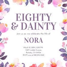 80th birthday invitations customize 922 80th birthday invitation templates online canva