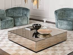 mirrored glass coffee table bryant square coffee table by casamilano