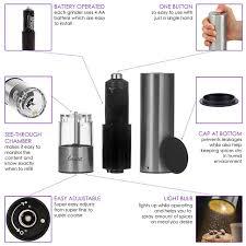 amazon com electric lerutti salt and pepper grinder set battery