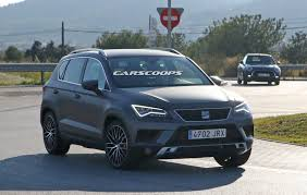 seat ateca blue seat ateca cupra spotted on public roads completely undisguised