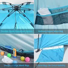 large size sunshade beach tent anti uv upf 50 with great