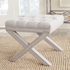 Taupe Ottoman Safavieh Mercer Collection Patrice Ottoman Taupe