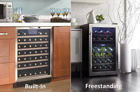 build your own refrigerated wine cabinet wine beverage and bar refrigeration freestanding vs built in danby