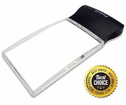 large magnifying glass with light fancii led light 2x large rectangular handheld reading magnifying