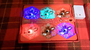 rudolph the red nosed reindeer musical snowflake christmas lights
