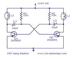 24v flasher circuit electronic circuits and diagram electronics