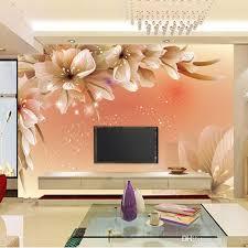 B Home Decor Custom Luxury Wallpaper Flowers Photo Wallpaper Silk Wall