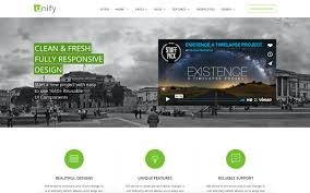 unify responsive website template bootstrap business