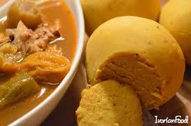la bonne cuisine ivoirienne sauce villageoise au brochet et foufou ivorianfood