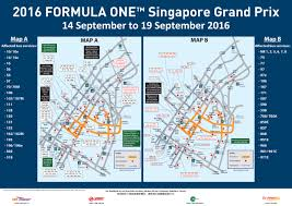 Map Formula Formula 1 2016 Bus Diversions Land Transport Guru