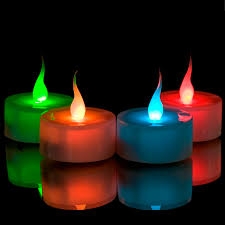 colour changing led tealights battery operated candles