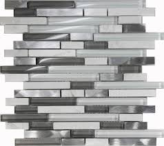 Mosaic Kitchen Backsplash by Sample White Glass Stone Metal Linear Glass Mosaic Tile Kitchen