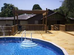 multi level wood deck for above ground swimming pool things to