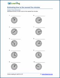 grade 3 telling time worksheets free u0026 printable k5 learning