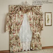 springfield floral scarf valance and curtains