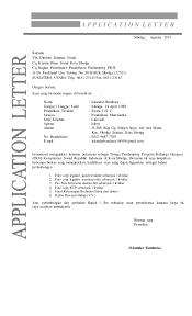 contoh surat lamaran kerja dengan cq contoh surat lamaran dan cv iskandar batubara