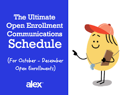 free open enrollment communications schedule download now
