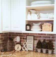 kitchen with brick backsplash diy whitewashed brick backsplash