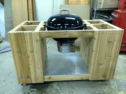 grill side table plans weber style barbecue side table diy bbq