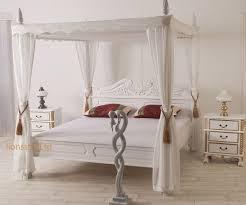 Amerikanische Luxus Schlafzimmer Wei Romantisches Himmelbett Holz Rheumri Com