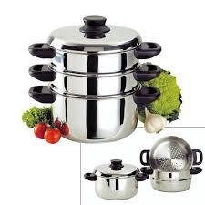 cuisine cuit vapeur combiné cuit vapeur inox 24 cm baumalu kookit com ustensiles de